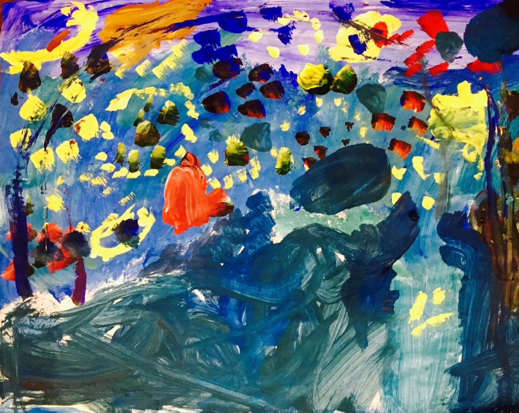art created by kids at sparkling art piano in chicago